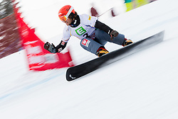Zan Kosir of Slovenia competes during quarterfinal of the Men's Parallel Giant Slalom at FIS World Championships of Snowboard and Freestyle 2015, on January 23, 2015 at the WM Piste in Lachtal, Austria. Photo by Vid Ponikvar / Sportida