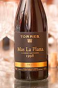 Mas La Plana Cabernet Sauvignon 1998. Torres Penedes Catalonia Spain