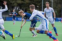 AMSTELVEEN - Dennis Warmerdam (Pinoke)   tijdens   hoofdklasse hockeywedstrijd mannen, Pinoke-Kampong (2-5) . COPYRIGHT KOEN SUYK