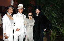 Left to right, ANDY & PATTI WONG, YOKO ONO and SEAN LENNON at Andy & Patti Wong's Chinese New Year party to celebrate the year of the Rooster held at the Great Eastern Hotel, Liverpool Street, London on 29th January 2005.  Guests were invited to dress in 1920's Shanghai fashion.<br /><br />NON EXCLUSIVE - WORLD RIGHTS