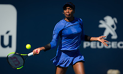 March 22, 2019 - Miami, FLORIDA, USA - Venus Williams of the United States in action during the second-round at the 2019 Miami Open WTA Premier Mandatory tennis tournament (Credit Image: © AFP7 via ZUMA Wire)