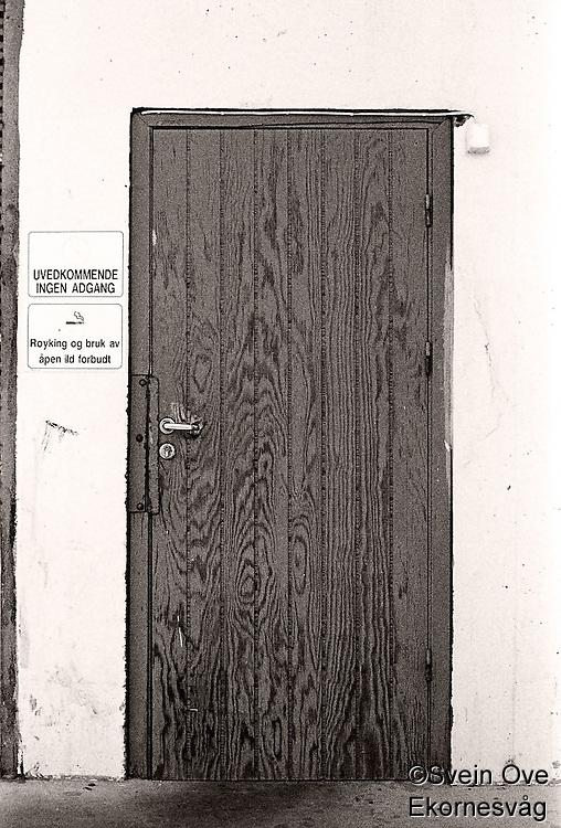 Uvedkommende ingen adgang!<br /> Foto: Svein Ove Ekornesvåg