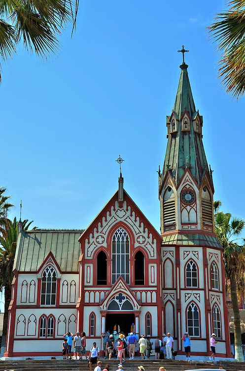 Cathedral of San Marcos by Gustav Eiffel in Arica, Chile<br /> In 1866, a 34 year old Frenchman borrowed money to establish an engineering company.  One of his first engineering assignments was to build an all metal, prefabricated building for a Chilean resort. But after the 1868 earthquake destroyed the First Church of Arica, the work of Gustav Eiffel became the Cathedral of San Marcos de Arica. Eiffel went on to become one of the most famous 19th century architects. His iconic work includes the Eiffel Tower and the Statue of Liberty.