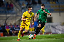 18# Skoflek Ziga from NK Rudar Velenje and 6# Klemencic Tilen from NK Domzale during the match of 1. round of 1. Slovenian National Football League between: NK Domzale and NK Rudar Velenje on July 14, 2019 in Domzale, Slovenia. Photo by Urban Meglic / Sportida
