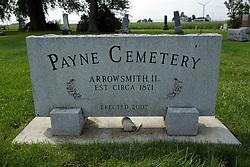 31 August 2017:   Veterans graves in Payne Cemetery in eastern McLean County.