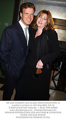 MR JOEL CADBURY and his sister MRS CHARLES FARR, at a party in London on 14th May 2003.PJN 76