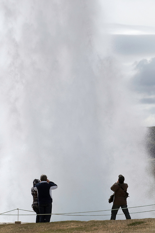 Geysir, Iceland<br /> Model release by photographer
