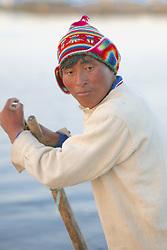 Boatman On Reed Boat
