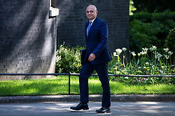 © Licensed to London News Pictures. 15/05/2018. London, UK. Home Secretary Sajid Javid arrives on Downing Street for the Cabinet meeting. Photo credit: Rob Pinney/LNP