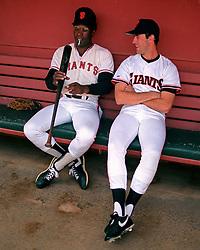 Bobby Bonds & Will Clark, 1988