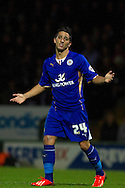 Anthony Knockaert of Leicester City in action during the Skybet Championship match, Yeovil Town v Leicester City at Huish Park Stadium in Yeovil on Tuesday 1st October 2013. Picture by Sophie Elbourn, Andrew Orchard Sports Photography,
