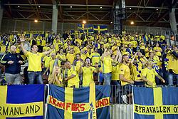 September 3, 2017 - Barysaw, BELARUS - 170903 Svenska fans under VM-kvalmatchen i fotboll mellan Belarus och Sverige den 3 september 2017 i Barysaw  (Credit Image: © Joel Marklund/Bildbyran via ZUMA Wire)