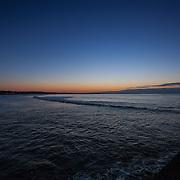 Today's  winter sunrise at Narragansett Town Beach,  .  April  21, 2013.