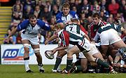 Leicester, England UK., 9th October 2004,  Zurich Premiership Rugby, Leicester Tigers vs Bath Rugby, Welford Road,<br /> [Mandatory Credit: Peter Spurrier/Intersport Images],<br /> Sam Vesty acting as scrum half.