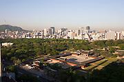 Changgyeonggung Palace, Namsan Tower (l.) and Downtown Seoul.