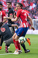 Atletico de Madrid Filipe Luis during La Liga match between Atletico de Madrid and Athletic Club and Wanda Metropolitano in Madrid , Spain. February 18, 2018. (ALTERPHOTOS/Borja B.Hojas)