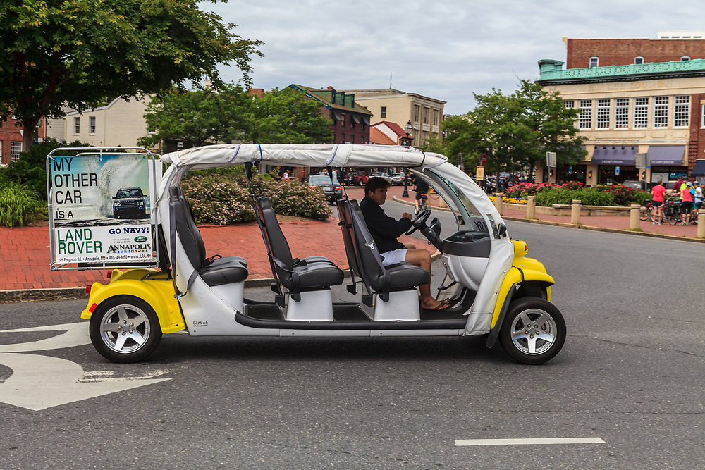 Annapolis, MD, USA - May 20, 2012: A very unique jitney on the Annapolis Maryland streets.