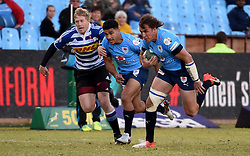 Burger Odendaal makes a run during the Absa Currie Cup match between the Blue Bulls and DHL Western Province held at Loftus Versfeld stadium, Pretoria, South Africa on the 5th August 2016Photo by:   Real Time Images
