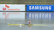 Chungju, South Korea. GBR M1X 2013 FISA World Rowing Championships, Saturday Men's Single Spares Races, GBR M1X Jonny WALTON winning at the Tangeum Lake International Regatta Course. 12:39:30  Saturday  24/08/2013 [Mandatory Credit. Peter Spurrier/Intersport Images]