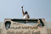 Sco0033837 .  Daily Telegraph..Rebels from the Warfallah tribe commandeer a checkpoint between Tarhouna and Bani Walid. They are heading towards their hometown of Bani Walid which they intend to liberate, 170 km south of Tripoli ...Tripoli 3 September 2011. ............Not Getty.Not Reuters.Not AP.Not Reuters.Not PA....