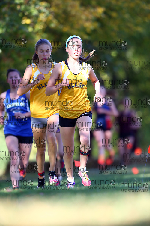 (Ottawa, Canada---14 October 2016) A Glebe Collegiate runner competing in the High School Capital X Country Challenge varsity girls 6 km race.<br /> <br /> Package deals are available for multiple photographs. Contact the photographer at seanburges@yahoo.com or seanburges@mundosportimages.com