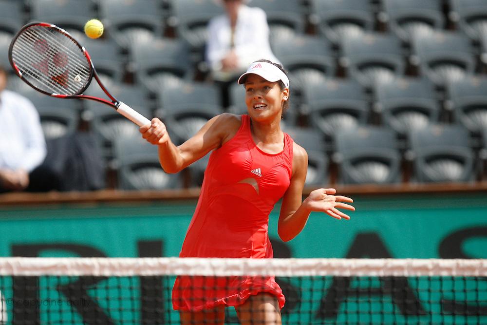 Roland Garros. Paris, France. June 1st  2008..Ana IVANOVIC against Petra CETKOVSKA..Round of 16 (4th Round)...