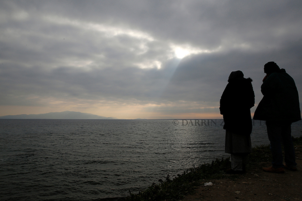 Migrants and refugees on island of Lesbos, Greece. <br /> Photo: Darrin Zammit Lupi