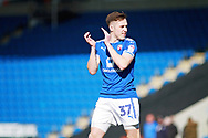 Chesterfield midfielder Josh Kay (37)   claps the fans after the EFL Sky Bet League 2 match between Chesterfield and Notts County at the Proact stadium, Chesterfield, England on 25 March 2018. Picture by Nigel Cole.