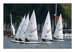 Largs Regatta Week - August 2012..Laser Fleet Start.