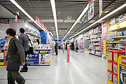 aisle in a big Tokyo superstore