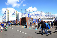 General view outside the stadium. Barclays Premier League match, Everton v Norwich City at Goodison Park in Liverpool on Sunday 15th May 2016.<br /> pic by Chris Stading, Andrew Orchard sports photography.