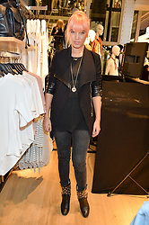 AMBER LE BON at a party to relaunch the Bershka store at 221-223 Oxford Street, London on 17th March 2016.