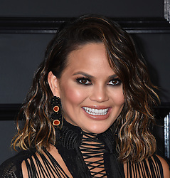 Celebrities arrive on the red carpet for the 59th Grammy Awards held at the Staples Centre in downtown Los Angeles, California. 12 Feb 2017 Pictured: Chrissy Teigen. Photo credit: MEGA TheMegaAgency.com +1 888 505 6342