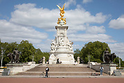Outside Buckingham Palace at the Victoria Memorial statue it is eerily quiet and silent on streets empty of tourists as lockdown continues and people observe the stay at home message in the capital on 11th May 2020 in London, England, United Kingdom. Coronavirus or Covid-19 is a new respiratory illness that has not previously been seen in humans. While much or Europe has been placed into lockdown, the UK government has now announced a slight relaxation of the stringent rules as part of their long term strategy, and in particular social distancing.