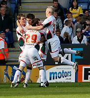 Photo: Steve Bond/Richard Lane Photography. Leicester City v Carlisle United. Coca Cola League One. 04/04/2009. Scott Dobie celebrates the late equaliser