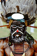 Man at Sing Sing tribal gathering,  Mount Hagen, Papua New Guinea
