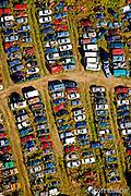 Auto junkyard from the air.