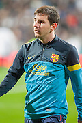 Leo Messi portrait at Bernabeu Stadium