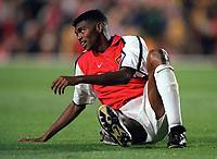 Kanu (Arsenal). Arsenal 3:2 FC Shakhar Donetsk, UEFA Champions League, Group B, 20/9/2000. Credit Colorsport / Stuart MacFarlane