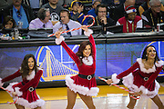 Golden State Warriors Dance Team performs during a timeout against the Utah Jazz at Oracle Arena in Oakland, Calif., on December 20, 2016. (Stan Olszewski/Special to S.F. Examiner)