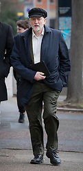 © Licensed to London News Pictures. 29/01/2017. London, UK. Labour party leader Jeremy Corbyn arrives at ITV Studios to appear on ITV's Peston's Politics. Photo credit: Peter Macdiarmid/LNP