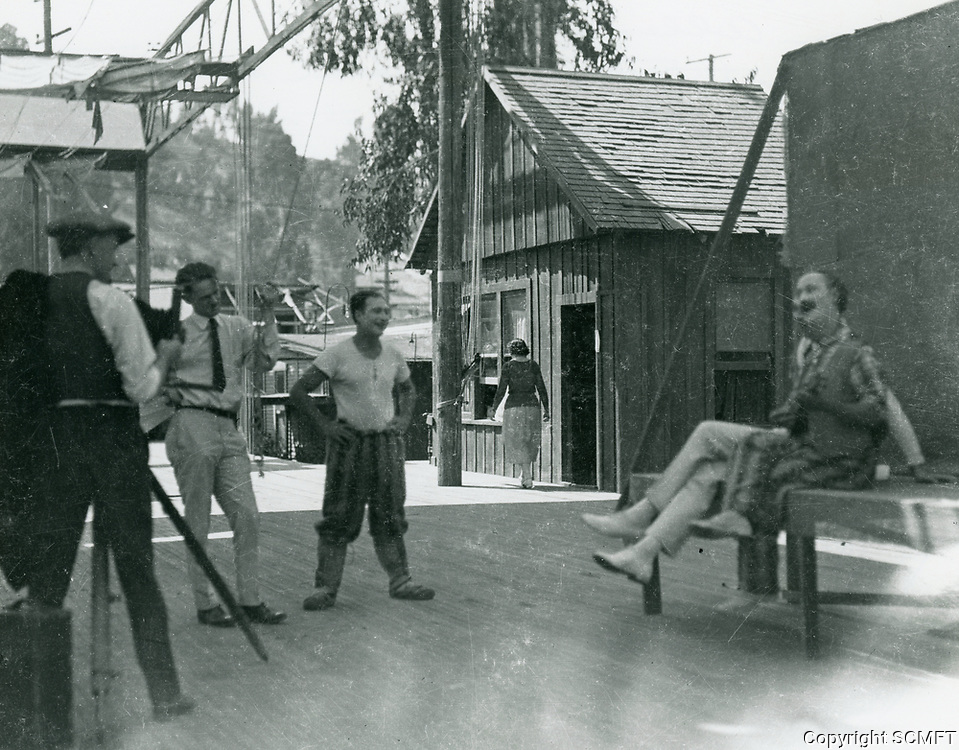 1921 Ben Turpin and Robert Florey at Mack Sennett Studios