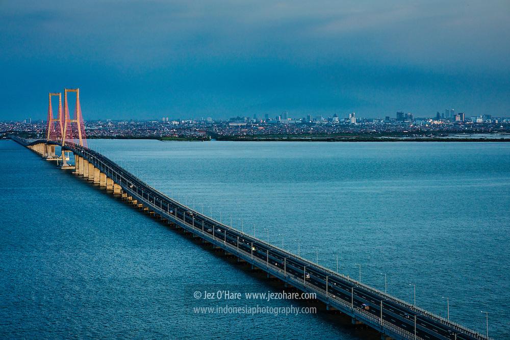 Suramadu Bridge between Surabaya and Madura, East Java, Indonesia