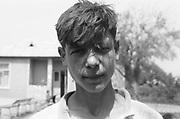 Gregoras Marian à 11 ans en 1993 à l'orphelinat de Popricani. Gregoras a été abandonné à la naissance.<br /> <br /> Gregoras at 11 in 1993 at Popricani's orphanage. Gregoras was abandoned at birth.