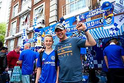Chelsea fans outside the stadium - Rogan Thomson/JMP - 21/05/2017 - FOOTBALL - Stamford Bridge - London, England - Chelsea v Sunderland - Premier League..