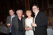 WILLIAM ATTENBOROUGH; KAREN LEWIS; MIKE ATTENBOROUGH; TOM ATTENBOROUGH, The Almeida Theatre  celebrates Mike Attenborough's 11 brilliant years as Artistic Director. Middle Temple Hall,<br /> Middle Temple Lane, London, EC4Y 9AT