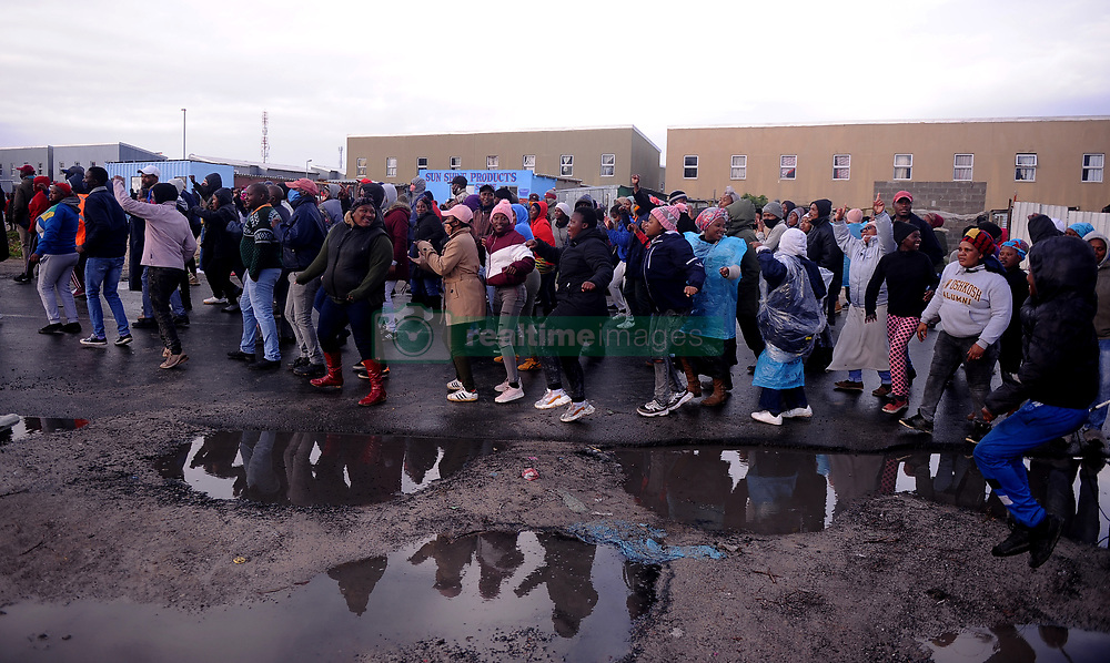 South Africa - Cape Town - 10 July 2020 - A Housing protest erupted in Mfuleni. Mfuleni backyarders who invaded land near Nuwe Begginning flat. Photographer Ayanda Ndamane African news agency (ANA)
