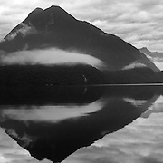 A panoramic view of Milford Sound, South Island, New Zealand.  Milford Sound is a fjord in the south west of New Zealand's South Island, within Fiordland National Park. 23rd July 2011. Photo Tim Clayton