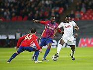 Tottenham's Victor Wanyama tussles with CSKA Moscow's Lacina Traore during the Champions League group match at Wembley Stadium, London. Picture date December 7th, 2016 Pic David Klein/Sportimage