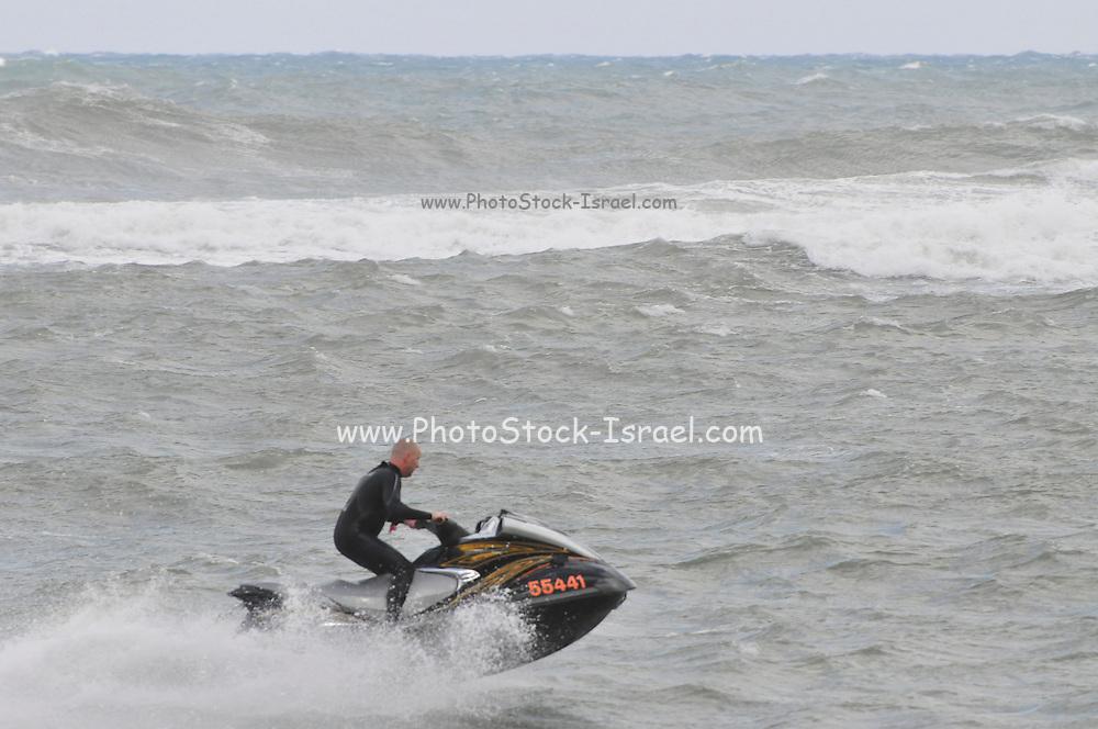 Israel, Haifa, Storm Rider Windsurfing competition 25 January 2010